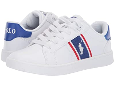 Polo Ralph Lauren Kids Quigley (Little Kid) (White Smooth/Royal/Red/White Pony) Kid