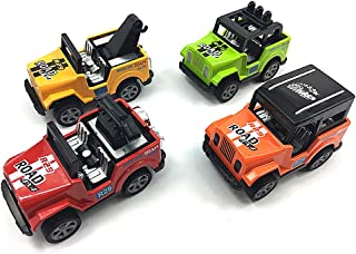 VANTIYAUS Toy Jeep , 4 Pcs Pullback Jeep Wrangler Vehicles Toys Gifts Models ,Gift for Kids (Color Random)