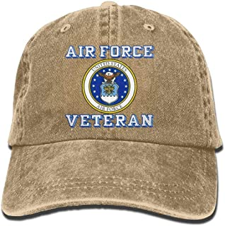 Us Air Force Veteran with USAF Seal Dad Hat Adjustable Denim Hat Classic Baseball Cap