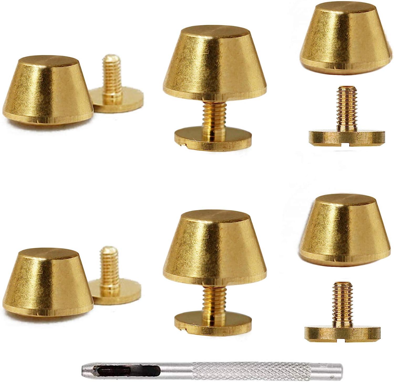 Max Minneapolis Mall 58% OFF Handbag Purse Feet Metal Brass Screw-Back for Purses Studs