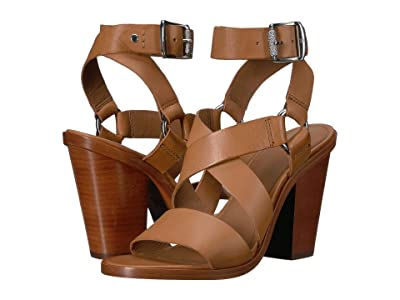 Frye Sara Harness Sandal (Camel) High Heels