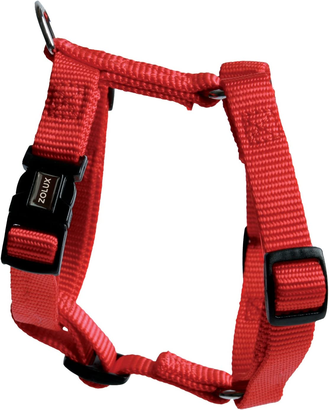 Zolux Max 70% OFF Adjustable Nylon Dog Max 61% OFF Harness Red Plain 40mm Width Colours