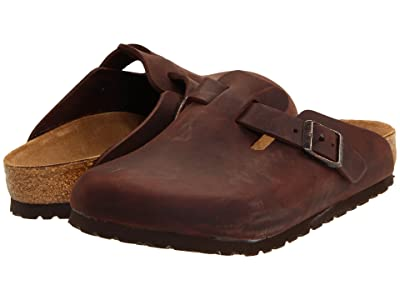 Birkenstock Boston Oiled Leather (Unisex) (Habana Oiled Leather) Clog Shoes