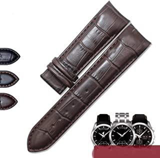 Men's Watchband 22 23 24mm Watch Bands Belt Wrist Bracelets,Brown No Clasp,23mm Rosegold Clasp