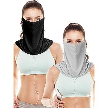 2 Pieces Unisex Sun Protective Face Bandana Women UV Protection Face Scarf for Summer Outdoor Activities