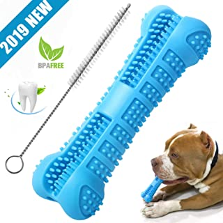 Chooseen Dog Toothbrush Stick Upgraded Dog Chew Toys Bone Bite Resistant Dental Care Effective Teeth Cleaning Blue for Small Medium Dogs Pets