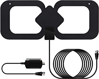 Indoor Amplified Hd Digital TV Antenna with 13.2ft Coaxial Cable - Support 4K 1080P Fire tv Stick and All Older TV's