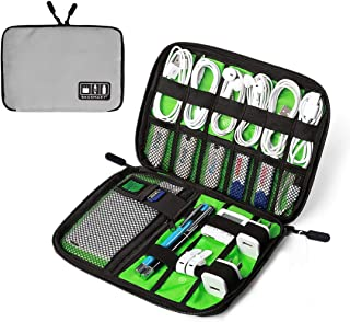 BAGSMART Electronic Organizer Travel Cable Organizer Portable Electronics Accessories Bag for Cords, USB, Grey