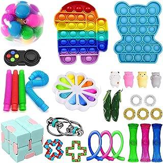 28 Pcs Fidget Toys Pack, Sensory Fidget Toys Pas Cher, Fidget Toy Set Fidget Packs Fidget Box, Fidget Pack avec Stress Bal...