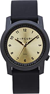 Rip Curl Men's Cambridge Silicone Watch Stainless Steel Waterproof Gold