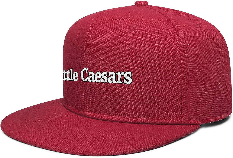 Hip Hop Baseball Hat Unisex PZX1586 Colorful Colors Flat Edge Cap Little-Caesar-Stuffed-Crust-Pizza