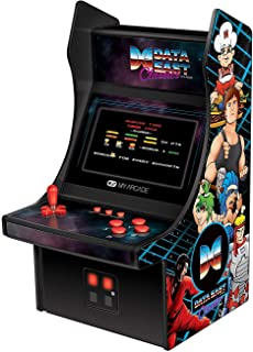 My Arcade Data East Classics Mini Player - 10 Inch Mini Arcade Machine Cabinet - 35 Retro Games Included - Heavy Barrel, Caveman Ninja, and More - Licensed Collectible