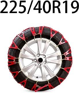 HEIFEN Car Snow Chain Universal Off-Road Car Sedan SUV Snow Tires Anti-Skid Chain Tendon Thickening Size 225-235 Inside Various Models
