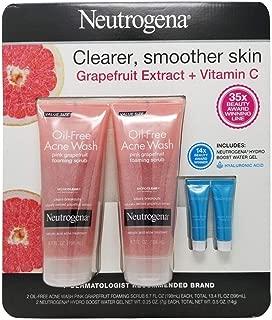 Neutrogena Oil-Free Acne Wash Pink Grapefruit Foaming Scrub & Hydro Boost Water Gel - 2 Pack