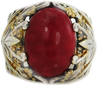 Michael Valitutti Red Jade with White Sapphire Cocktail Ring