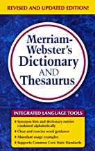 Merriam-Webster's Dictionary And Thesaurus (Turtleback School & Library Binding Edition)