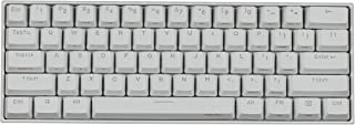 Anne Pro 2 Mechanical Gaming Keyboard 60% RGB Backlit - Wired/Wireless Bluetooth 4.0 PBT Type-c by Obinslab (Kailh Box Brown, White)