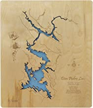 Don Pedro Lake, California: Standout Wood Map Wall Hanging