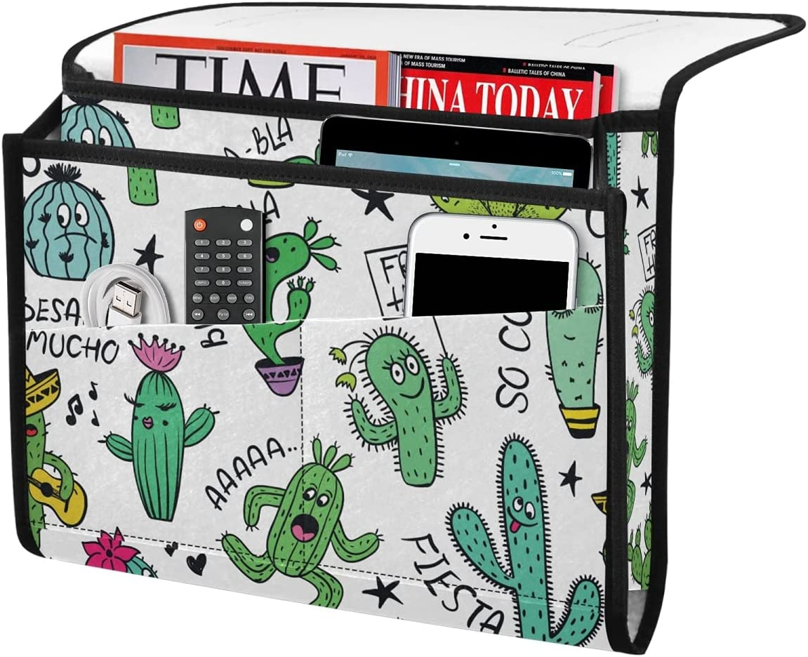 DOMIKING Cute Arlington Mall Cactus Bedside Storage Organizer Bed Felt Ha Challenge the lowest price Caddy