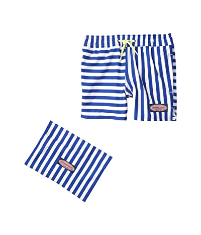 Vineyard Vines Kids Printed Chappy Trunks (Toddler/Little Kids/Big Kids) (Reef Stripe/Ocean Reef) Boy