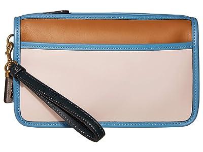 COACH Britt Wristlet (B4/Seashell Multi) Handbags