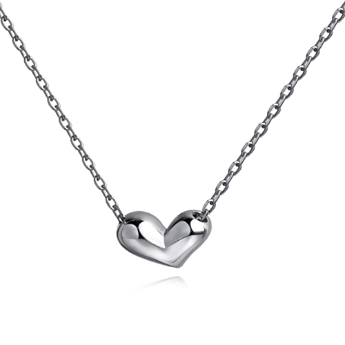691971342cf2 Meow Star Heart Necklace Sterling Silver Heart Pendant Necklace for Woman