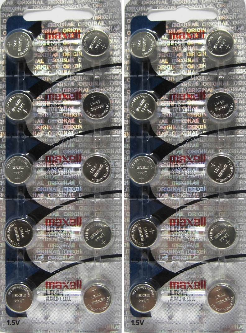 2 X 10 Pack Maxell Ag13 Lr44 357 Button Cell Battery Hologram 20 Batteries Total Health Personal Care Amazon Com