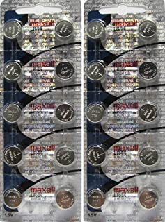"20 Pack Maxell ""NEW HOLOGRAM PACKAGE "" LR44 AG13 357 button cell battery"