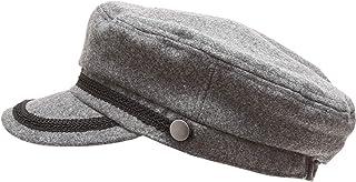 MIRMARU Women's Winter Greek Sailor Fisherman Cabbie Cap Newsboy Baker boy hat with Elastic Band