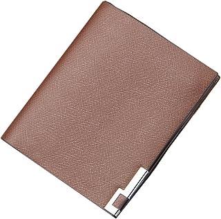 Strimm Slim Billfold Short Leather Wallet Front Pocket Card Holder Bifold Sleek Purse Case for Men, Boys
