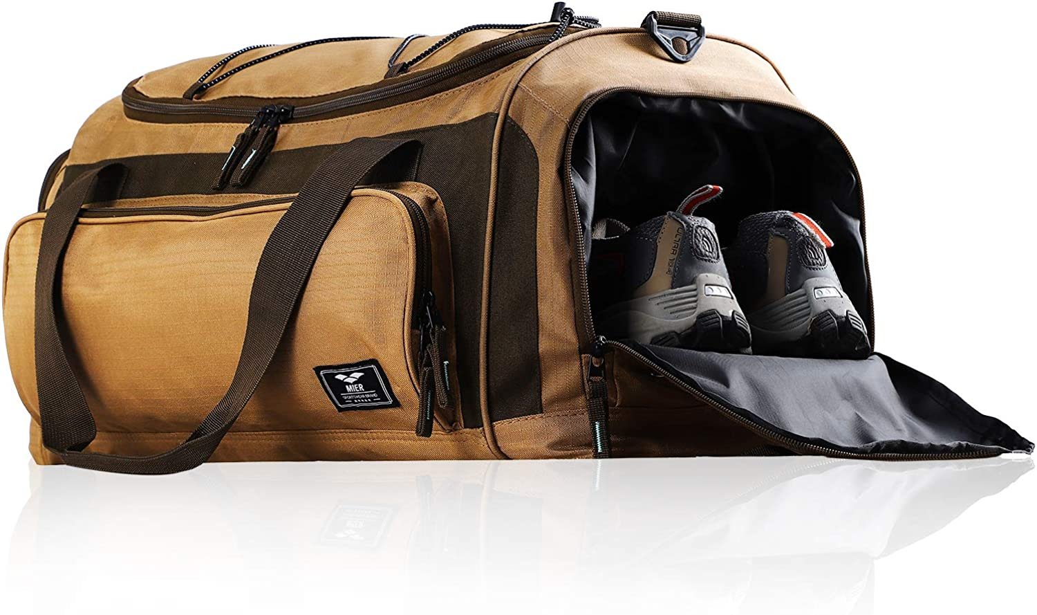 MIER Direct sale of manufacturer Shipping included Large Duffel Bag Men's with Gym Compartment Shoe