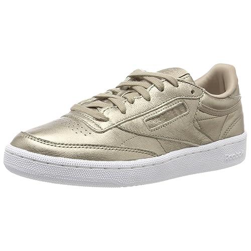 ddf60243d1fb3 Reebok Women s Club C 85 Lthr Gymnastics Shoes