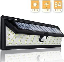 KINGSO Solar Lights Motion Sensor 54LED Solar Powered Outdoor Security Light for Garden Yard Pathway Wall Patio Deck Steps Garage RV - Waterproof Lamp