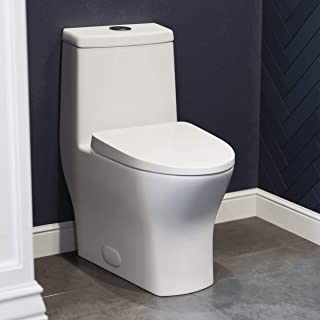 Swiss Madison Well Made Forever SM-1T257 Sublime One Piece Toilet, Glossy White