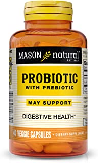 MASON Natural Vitamins Probiotic With Prebiotic Lactospore, 40 Veggie Caps
