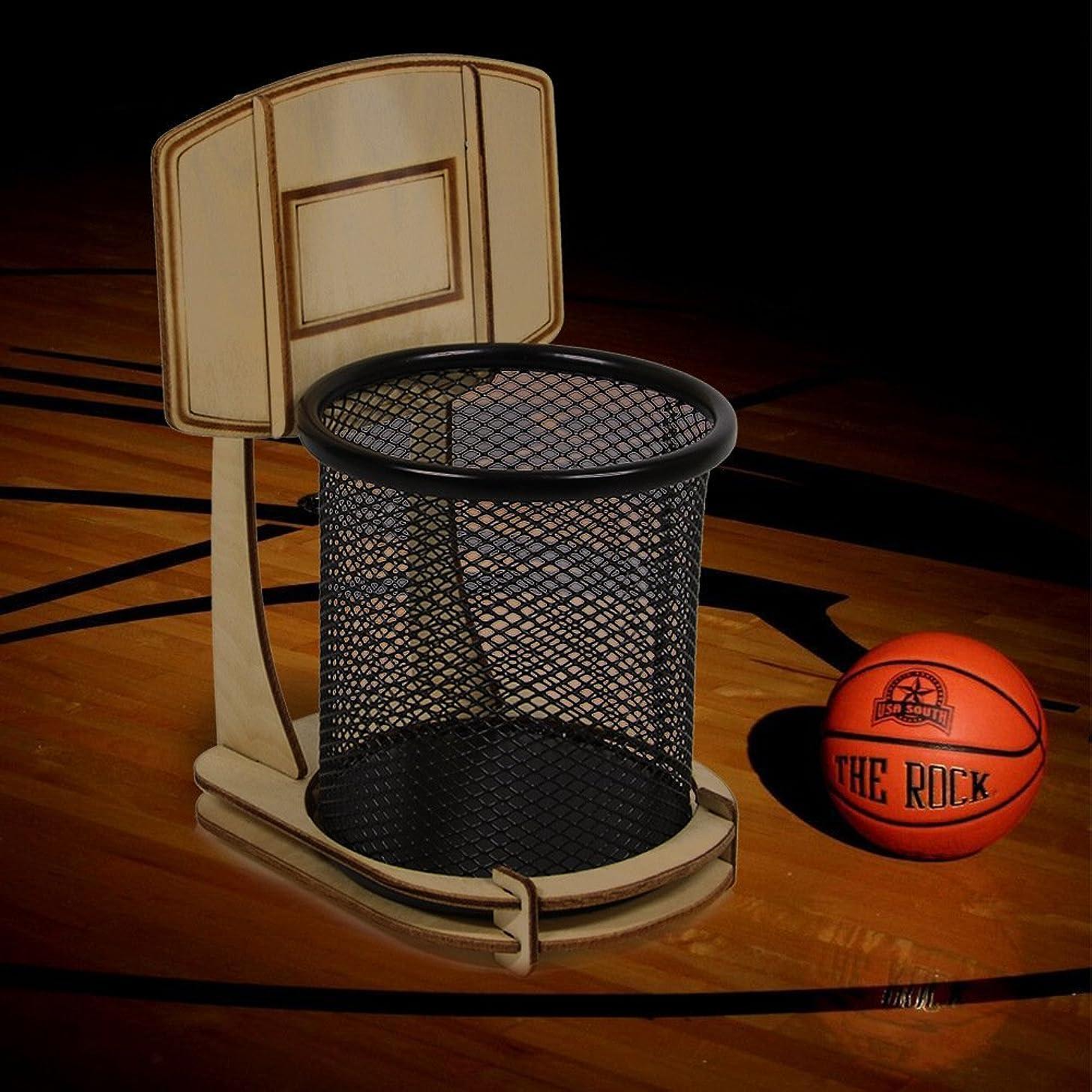 床無法者会員ペン立て ペンスタンド おもしろい バスケットボールスタンド型 ペンでシュート! 文房具の整理整頓を楽しめる 卓上ペンスタンド 文具ケース