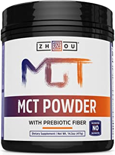 Mct Oil Powder With Prebiotic Acacia Fiber - Zero Net Carbs - Keto Friendly Fat & Fiber SOURCE for Sustained Energy, & Gut Health - Easy To Digest - for Coffee, Smoothies & More!