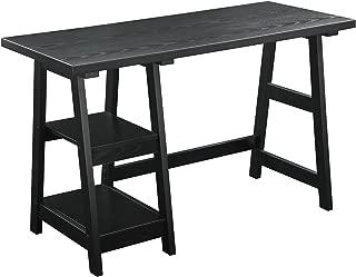 Convenience Concepts Designs2Go Trestle Desk, Black
