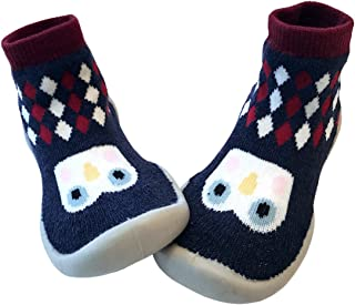 Baby Slipper Socks/First Walking Shoes with Sock/Toddler Booties/Training Walking for Baby Boys Girls