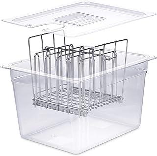 Väeske Sous Vide Container with Lid | Fits Most Sous Vide Cookers | Sous Vide Accessories (12 Quarts, Rack)