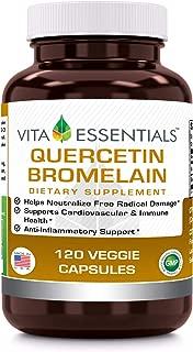 Vita Essentials Quercetin 800 Mg with Bromelain Veggie Capsules, 120 Count
