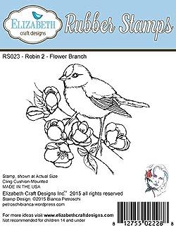 Elizabeth Craft Designs Ladybug Quartet Cling Red Rubber Stamps RS019