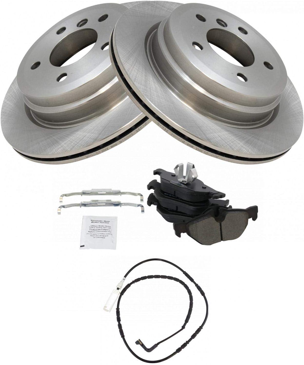 Brake Pad Rotor Wear Sensor Kit BMW Rear 328i 永遠の定番モデル for お得クーポン発行中 328xi Metallic
