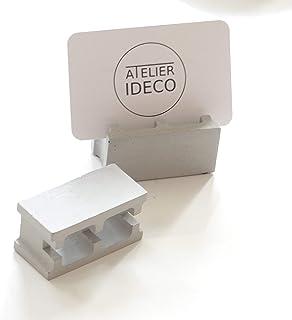 Atelier Ideco - 2 Pantallas de Hormigón Para Tarjetas de Visita Y Bolígrafos en Forma de Mini Blockwork