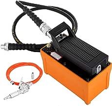 Mophorn 10000 PSI Hydraulic Foot Pump 98 Cubic Air Hydraulic Pump 700bar Air Actuated Treadle Foot Pump with Hose and Spray Gun for Auto Repair Tool