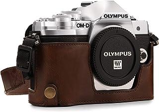 MegaGear MG1351 Estuche para cámara fotográfica - Funda (Funda Olympus OM-D E-M10 Mark III Tirante para Hombro Marrón)