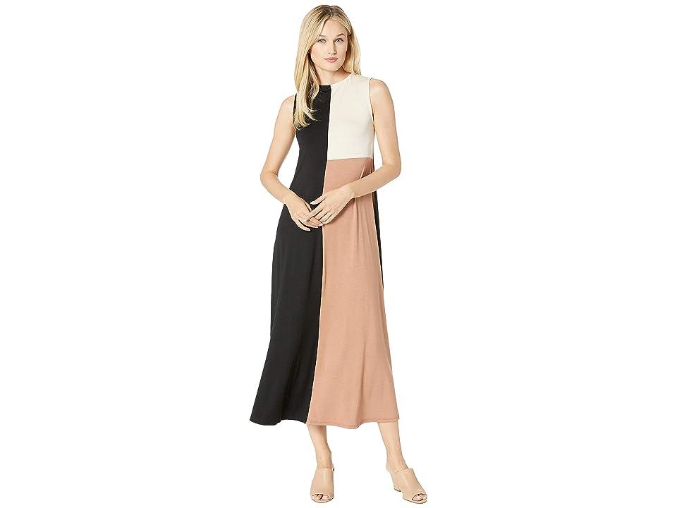 Rachel Pally Tricolor Dress (Black/Dulce/Cream Color Block) Women