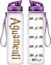 LEADO 32oz 1Liter Motivational Water Bottle w/Time Marker – Aguamenti, HP..