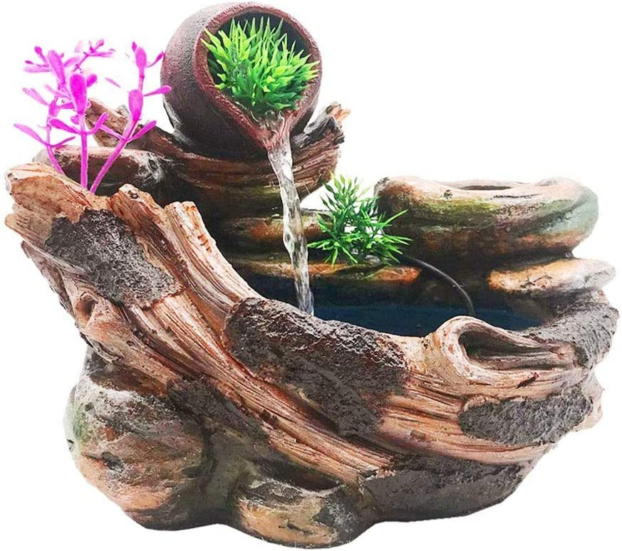 dxjsf Desk Décoration Desktop Fountain Indoor Animer and price revision Waterfall Safety and trust Decorati