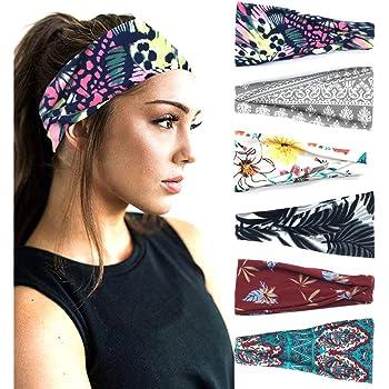 Wide Non Slip Tribal Black /& White RiptGear Yoga Headbands for Women /& Men
